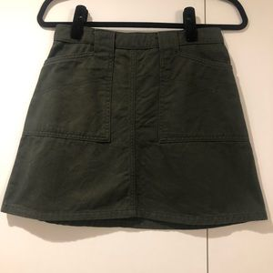 Urban Outfitters Green Utility Skirt